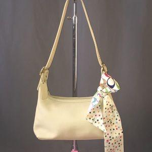 EUC Coach Legacy Zip Top Hobo Bag-Cream Color